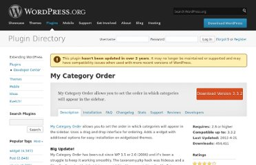 http://wordpress.org/extend/plugins/my-category-order/