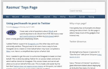 http://toys.lerdorf.com/archives/50-Using-pecloauth-to-post-to-Twitter.html
