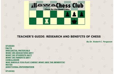 http://www.quadcitychess.com/benefits_of_chess.html