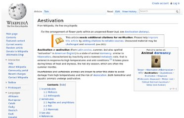 http://en.wikipedia.org/wiki/Aestivation