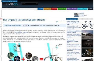 http://luxedb.com/the-organic-looking-synapse-bicycle/