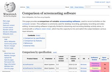 http://en.wikipedia.org/wiki/Comparison_of_screencasting_software