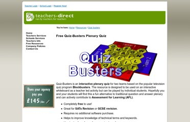 http://www.teachers-direct.co.uk/resources/quiz-busters/index.aspx