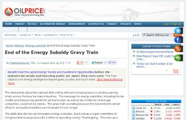 http://oilprice.com/Energy/Energy-General/End-of-the-Energy-Subsidy-Gravy-Train.html