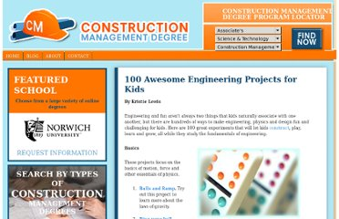 http://constructionmanagementdegree.org/blog/2010/100-awesome-engineering-projects-for-kids/