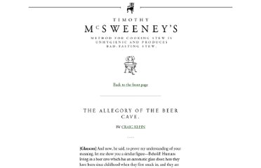 http://www.mcsweeneys.net/articles/the-allegory-of-the-beer-cave