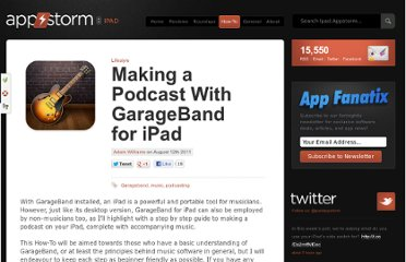 http://ipad.appstorm.net/how-to/lifestyle/making-a-podcast-with-garageband-for-ipad/