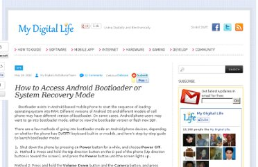 http://www.mydigitallife.info/how-to-access-android-bootloader-or-system-recovery-mode/