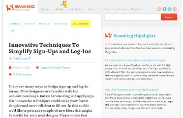 http://uxdesign.smashingmagazine.com/2011/05/05/innovative-techniques-to-simplify-signups-and-logins/