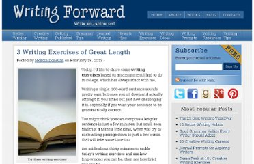 http://www.writingforward.com/category/writing_exercises/writing-exercises