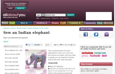 http://www.allaboutyou.com/craft/pattern-finder/sewing-projects/toys-to-sew/sew-an-indian-elephant-54407