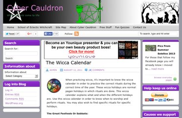 http://www.cybercauldron.co.uk/the-wicca-calendar