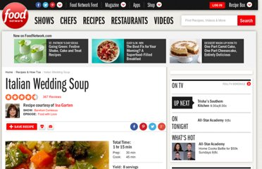 http://www.foodnetwork.com/recipes/ina-garten/italian-wedding-soup-recipe/index.html