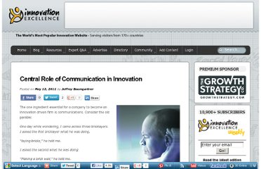 http://www.innovationexcellence.com/blog/2011/05/13/central-role-of-communication-in-innovation/