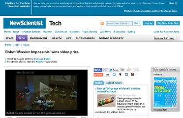 http://www.newscientist.com/article/dn20791-robot-mission-impossible-wins-video-prize.html