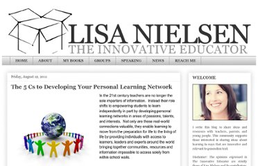 http://theinnovativeeducator.blogspot.com/2011/08/5-cs-to-developing-your-personal.html