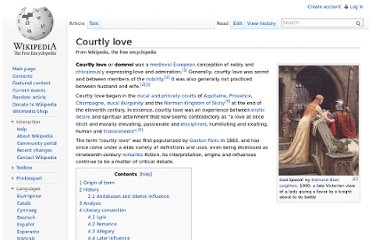 http://en.wikipedia.org/wiki/Courtly_love
