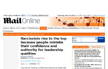 http://www.dailymail.co.uk/sciencetech/article-2024577/Narcissists-rise-people-mistake-confidence-authority-leadership-qualities.html