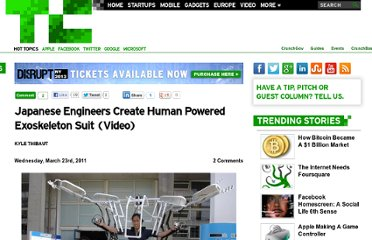 http://techcrunch.com/2011/03/23/japanese-engineers-create-human-powered-exoskeleton-suit-video/