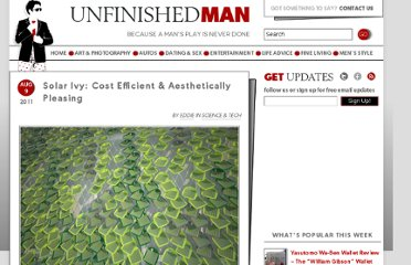 http://www.unfinishedman.com/solar-ivy-cost-efficient-aesthetically-pleasing/