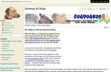 http://cogdogroo.wikispaces.com/Dominoe+50+Ways