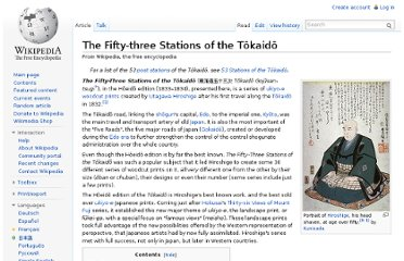 http://en.wikipedia.org/wiki/The_Fifty-three_Stations_of_the_T%C5%8Dkaid%C5%8D