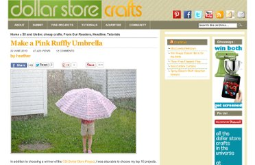 http://dollarstorecrafts.com/2010/06/make-a-pink-ruffly-umbrella/