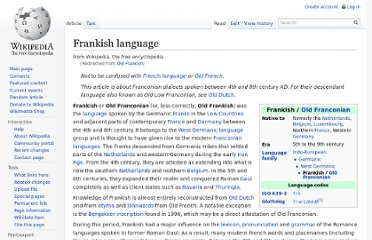 http://en.wikipedia.org/wiki/Old_Frankish