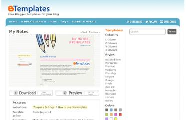 http://btemplates.com/2008/blogger-template-my-notes/