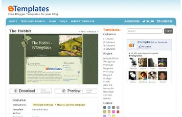 http://btemplates.com/2008/blogger-template-the-hobbit/