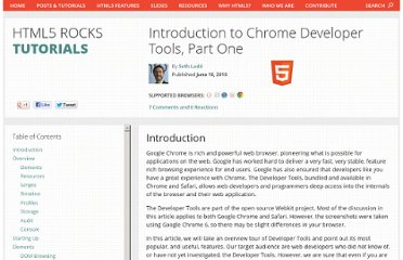 http://www.html5rocks.com/en/tutorials/developertools/part1/