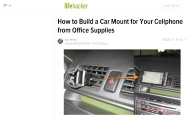 http://lifehacker.com/5747897/how-to-build-a-car-mount-for-your-cellphone-from-office-supplies