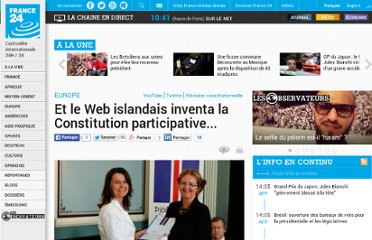 http://www.france24.com/fr/20110729-islande-projet-constitution-collaborative-participatif-twitter-facebook-youtube-comite-conseil-parlement-referendum