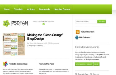 http://psd.fanextra.com/tutorials/designing/making-the-clean-grunge-blog-design/