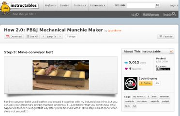 http://www.instructables.com/id/How-20-PBJ-Mechanical-Munchie-Maker-1/step3/Make-conveyor-belt/