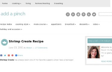 http://addapinch.com/cooking/2011/06/13/shrimp-creole-recipe/