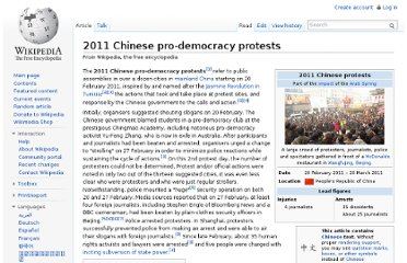 http://en.wikipedia.org/wiki/2011_Chinese_pro-democracy_protests