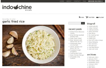 http://www.indochinekitchen.com/recipes/garlic-fried-rice/