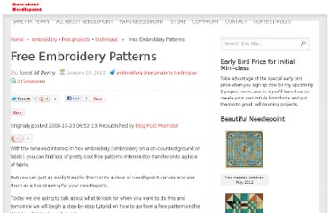 http://www.nuts-about-needlepoint.com/free-embroidery-patterns/