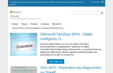http://www.microsoft.com/france/vision/tutoriels-video-b2i/WebcastList.aspx?Pid=8fb11e4f-4e59-48ac-87fc-afa7fa7787a9&index=18