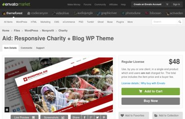 http://themeforest.net/item/wordpress-aid-charity-blog-theme/238405