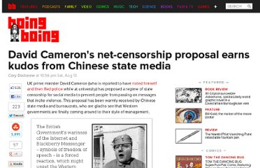 http://boingboing.net/2011/08/13/david-camerons-net-censorship-proposal-earns-kudos-from-chinese-state-media.html