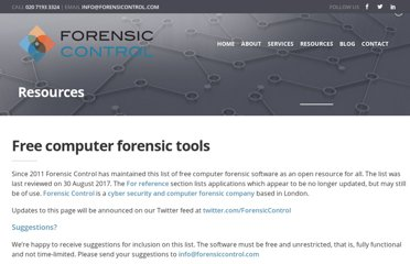http://forensiccontrol.com/resources/free-software/