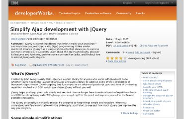 http://www.ibm.com/developerworks/xml/library/x-ajaxjquery/index.html