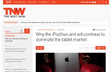http://thenextweb.com/apple/2011/08/14/why-the-ipad-has-and-will-continue-to-dominate-the-tablet-market/
