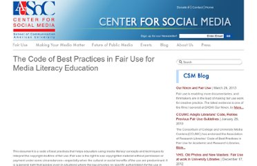 http://www.centerforsocialmedia.org/fair-use/related-materials/codes/code-best-practices-fair-use-media-literacy-education