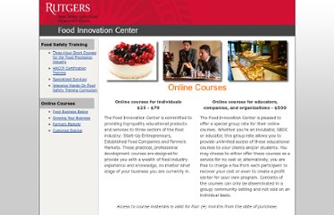 http://foodinnovation.rutgers.edu/educational_resources/index.html