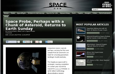 http://www.space.com/8591-space-probe-chunk-asteroid-returns-earth-sunday.html