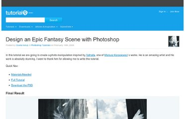 http://www.tutorial9.net/tutorials/photoshop-tutorials/design-an-epic-fantasy-scene-with-photoshop/