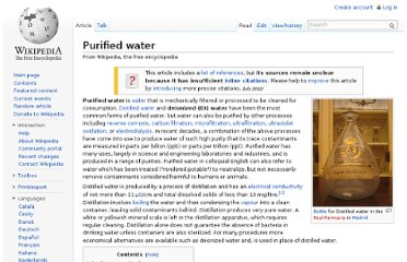 http://en.wikipedia.org/wiki/Purified_water
